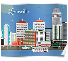 Louisville, Kentucky - Skyline Illustration by Loose Petals Poster