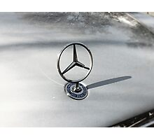 Detail of Mercedes tristar Photographic Print