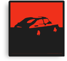 Saab 900, 1990 - Red on charcoal Canvas Print