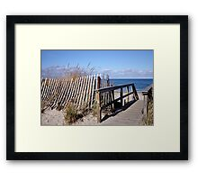 Off-season beach Framed Print