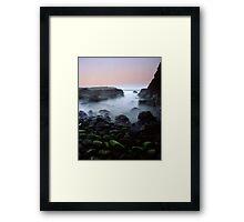 """""""Hazy Depths"""" ∞ Kiama, NSW - Australia Framed Print"""