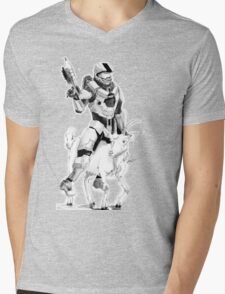 Chief and his Mighty Steed Mens V-Neck T-Shirt