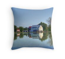 Silver Lake And Mill Throw Pillow