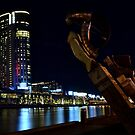 Melbourne at Night 0323 by Kayla Halleur