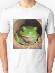 Green Tree-Frog in Hole T-Shirt