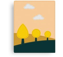 Stitched landscape with trees and cloud Canvas Print