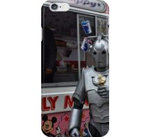 Cyberman with ice cream iPhone Case/Skin