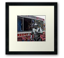 Cyberman with ice cream Framed Print