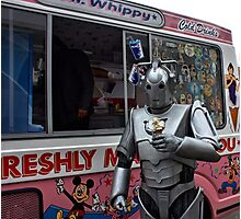 Cyberman with ice cream Photographic Print