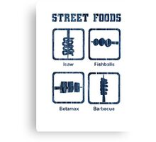 Pinoy Street Food Icons Canvas Print