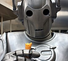Cyberman with ice cream cone by LooseImages