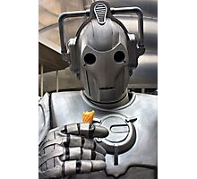 Cyberman with ice cream cone Photographic Print