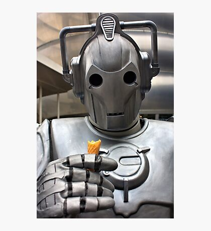 Cyberman with ice cream cone Photographic Print