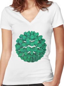Coral Ball Women's Fitted V-Neck T-Shirt