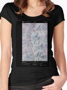 USGS Topo Map Washington State WA Louie Creek 20110413 TM Inverted Women's Fitted Scoop T-Shirt