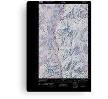 USGS Topo Map Washington State WA Louie Creek 20110413 TM Inverted Canvas Print