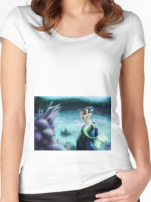 Mermaid in Tranquility Women's Fitted Scoop T-Shirt