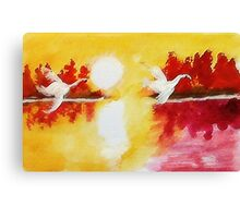 Before sunset,,,watercolor Canvas Print