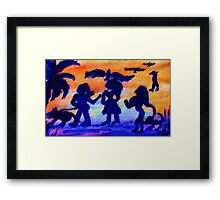 A walk in the park, watercolor Framed Print