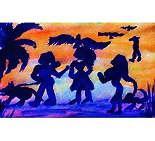 A walk in the park, watercolor Photographic Print