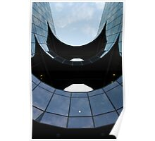 City of London building abstract View Poster