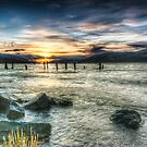 Sun going down over Loch Ness, wide angle version by Fraser Ross