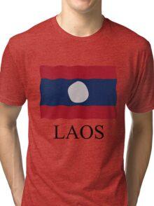 Laos flag Tri-blend T-Shirt