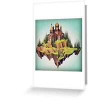Floating Island: Cloud Mosque  Greeting Card