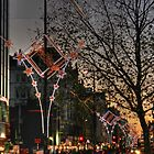 Christmas lights on Oxford Street, London by Jasna