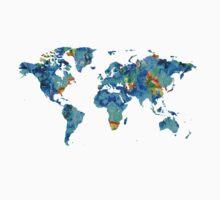 World Map 22 Art by Sharon Cummings One Piece - Long Sleeve