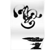 Vietnam calligraphy art - BW Poster