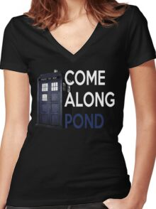 Come Along, Pond Women's Fitted V-Neck T-Shirt