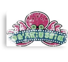 Octoland Logo Replica (Worn) Canvas Print