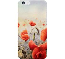A dash of Scarlet on a steel Dawn iphone cover iPhone Case/Skin