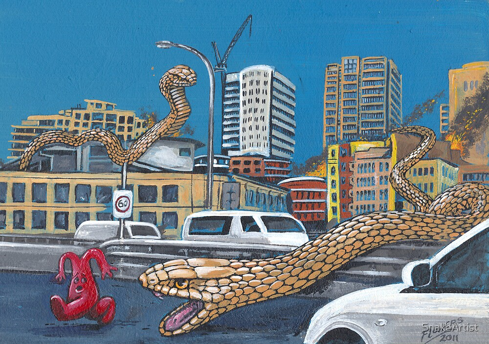 Snakes in the City by SnakeArtist