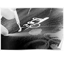 Vietnam calligraphy art - photo negatives Poster