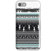 Reindeers - inverted pattern iPhone Case/Skin