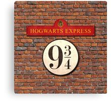 Hogwarts Express Harry Potter Sign Canvas Print