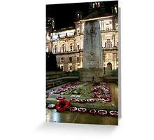 Cenotaph at George Square, Glasgow Greeting Card
