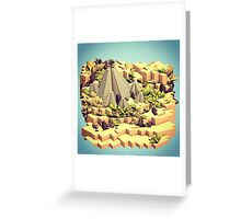 LowPoly Dreamscapes Greeting Card