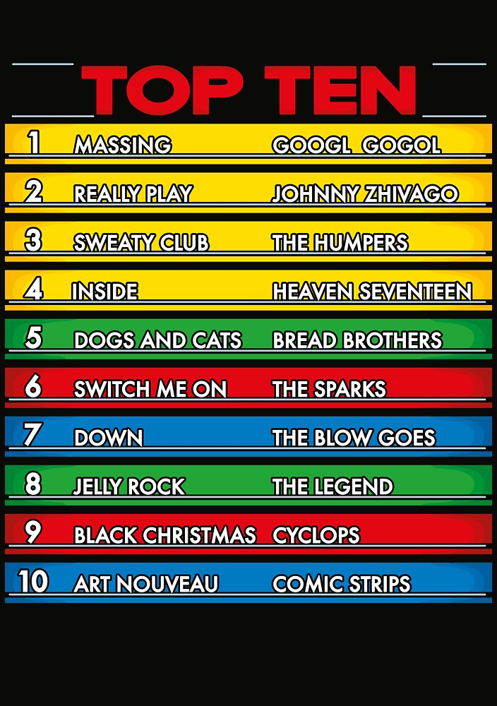 Disc Bootik Chart by DoodleDojo