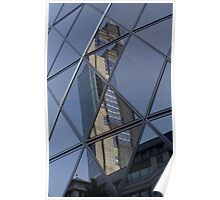 Gherkin building London Reflections Poster