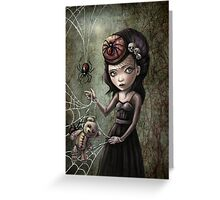 Black Widow Creepy Cute Girl Greeting Card