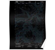 USGS Topo Map Oregon OR Troy 20110914 TM Inverted Poster
