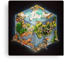 Cubed Earth Canvas Print