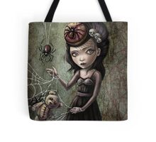 Black Widow Creepy Cute Girl Tote Bag