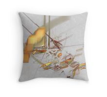 Sketching the city: the Latin Quarter Throw Pillow