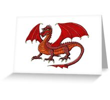 Red Dragon cartoon drawing art Greeting Card