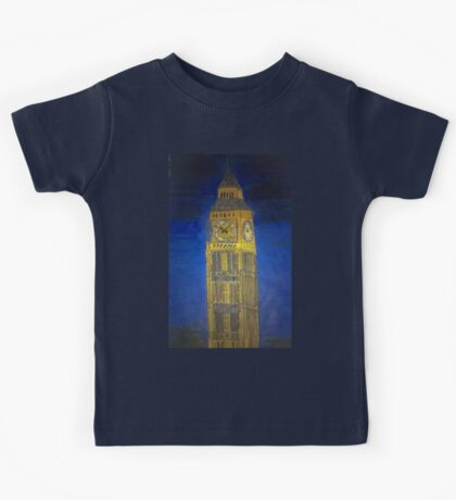 Big Ben at Night Time Kids Tee