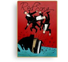 Red Song - Poster Art Canvas Print